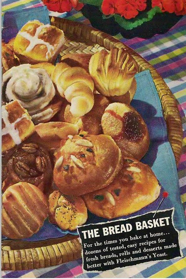 The Bread Basket (1943 Recipe Booklet) Sponsored by Fleischmann's Yeast [PDF eBook]
