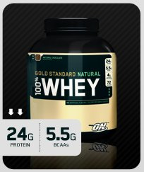 ON 100% NATURAL WHEY GOLD STANDARD 2lb - Available in 3 Flavors