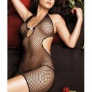 Sexy Fishnet Crotch Body Stocking Tight Cotton Hoisery Erotic Black See Through