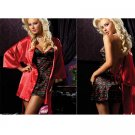 *NIP Sexy Red Lingerie Multicolor Night  Bath Robe or Gown Peignoir Women Dress