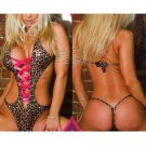NIP Pink Sexy Wild Naughty Adult Erotic Leopard Teddy Teddies Dress Size Regular