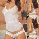 Hot White Erotic Sexy Cotton Fancy Exotic Bodyshaper Bodysult Babydoll Vtg Style