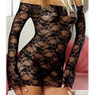 SEXY LINGERIE LONG SLEEVE RED/BLACK BABYDOLL BABY DOLLS UNDERWARE CHEMISE DRESS
