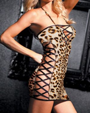 NEW SEXY LINGERIE LINGERE EXOTIC EROTIC FLIRTY LEOPARD TEDDIES INTIMATE APPAREL