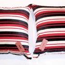 MISSONI HOME Luxury SET OF 2 Velvet VELOUR Stripe BIG Oversize PILLOWS Italy
