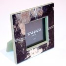 TAHARI HOME Glitter GOLD Picture PHOTO Frame ANIMAL Print FAUX FUR Back LEATHER