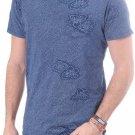 SCOTCH & SODA Commando Made me do it TEE Pocket SHIRT Blue Floral Print XL