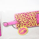 BETSEY JOHNSON LEOPARD Yellow Pink TRAVEL Baggage Luggage TAG - Free Shipping