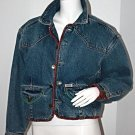 GUESS VINTAGE Jeans A GEORGES MARCIANO DESIGN 80's Oversize RARE Short JACKET