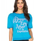 WILDFOX Beach Cooler HAPPILY EVER AFTER Tee TOP Shirt BLUE/PINK WIT56904J Small