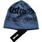 JUST CAVALLI Branded BLUE / BLACK Hat BEANIE Made in Italy - ONE SIZE Free Ship