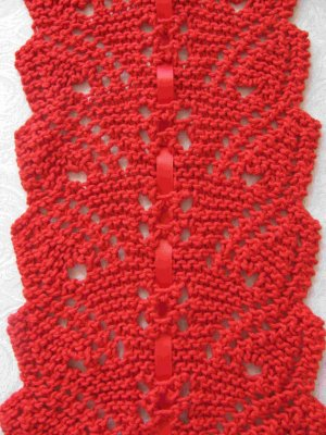 Flowing Leaves Lace Scarf Knitting Pattern Pdf Easy To Knit