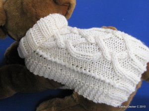 Dog Sweater Knitting Pattern EASY PDF Aran Pretzel Twist