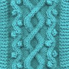 Wandering Path Cable Dog Sweater Knitting pattern PDF