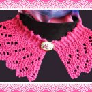 Lace Collar knitting pattern Raspberry Ripple design PDF Easy to knit