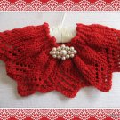 Lace Collar knitting pattern Candy Apple Red design PDF Easy to knit