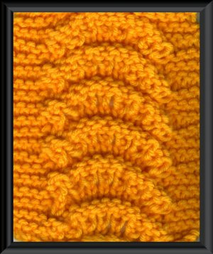 Lace Arches Scarf Easy knitting pattern for beginners PDF