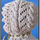 Knitted Lace Baby Bonnet PDF knitting pattern Cable Road