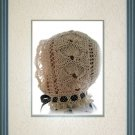 Lace Baby Bonnet knitting pattern PDF Victorian Shell design Original pattern