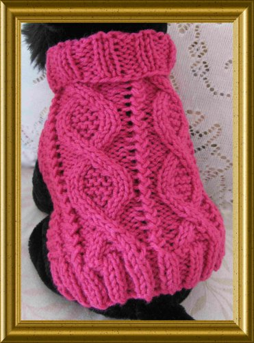 Entwined Paths Dog sweater knitting pattern