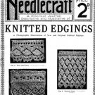 Needlecraft Knitted Edgings Series 2 1905 Antique Victorian knitting patterns PDF knitted lace