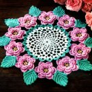 Crochet Rose Doily Classic Vintage Irish Crochet PDF pattern 1957