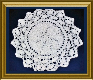 Ring of Leaves Dishcloth and Placemat knitting pattern PDF