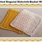 Diagonal Basket Weave Dishcloth knitting pattern PDF