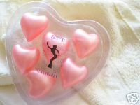 HOT Pink Heart Bath OIl Beads