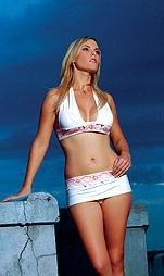 #80157- Halter Top with Matching Skirted Thong