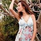 80171-S: 2 Pc. Floral Printed Babydoll with Matching G-string. Small