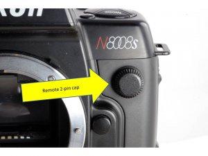Nikon 2 pin PC cap: MD-4 MD-15 MD-11 MD-12 F4 F4s N8008 N70 N2020