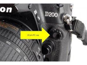 Nikon camera 10 Pin PC Cap F100 F5 N90 F90 N90s D3 D3x