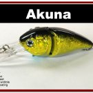 "[BP 107-85]3.4"""" Holographic Gold/Black Bass Pike Trout Fishing Lure Tackle"
