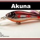 "[BP 118-79]3.5"""" Metallic Burgundy Shad Bass Pike Trout Fishing Lure Crankbait Tackle"