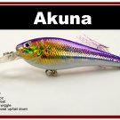 "[BP 118-82]3.5"""" Holographic Fuchsia Bass Pike Trout Fishing Lure Crankbait Tackle"