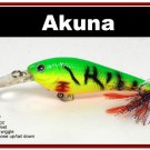 "[BP 118-98]3.5"""" Firetiger Bass Pike Trout Fishing Lure Bait Tackle"