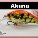 "[BP 131-78]2.9"""" Tiger Orange Bass Pike Trout Fishing Lure Crankbait Tackle"