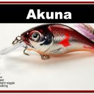 "[BP 131-79]2.9"""" Metallic Burgundy Shad Bass Pike Trout Fishing Lure Crankbait Tackle"