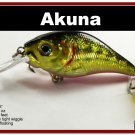 "[BP 131-86]2.9"""" Golden Shiner Bass Pike Trout Fishing Lure Tackle"