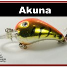 "[BP 132-78]2.3"""" Tiger Orange Bass Pike Trout Fishing Lure Bait"