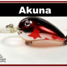 "[BP 132-79]2.3"""" Metallic Burgundy Shad Bass Pike Trout Fishing Lure Bait"