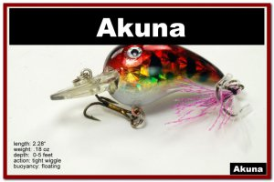 """[BP 132-81]2.3"""""""" Holographic Red Leopard Bass Pike Trout Fishing Lure Bait"""