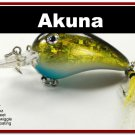 "[BP 132-85]2.3"""" Holographic Gold/Black Bass Pike Trout Fishing Lure Bait"