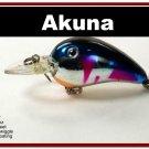 "[BP 132-89]2.3"""" Metallic Blue Shad Bass Pike Trout Fishing Lure Bait"