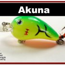 "[BP 132-98]2.3"""" Firetiger Bass Pike Trout Fishing Lure Bait"
