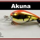 "[BP 133-78]2.3"""" Tiger Orange Bass Pike Trout Fishing Lure Bait"