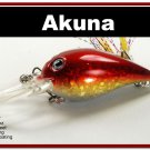 "[BP 133-84]2.3"""" Holographic Bleeding Gold Bass Pike Trout Fishing Lure Bait"
