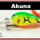 "[BP 133-98]2.3"""" Firetiger Bass Pike Trout Fishing Lure Bait"
