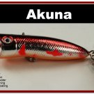 "[BP 147-79]2.2"""" Metallic Burgndy Shad Bass Trout Topwater Fishing Lure Popper"